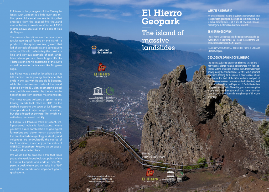 Bird's eye view of the trail of El Hierro Geoparks look out points