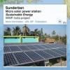 Micro solar power station in Sundarbans biosphere reserve